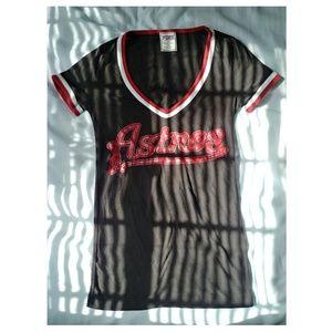Pink Astros tshirt play ball